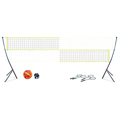 EastPoint Sports Easy Setup Portable Volleyball Badminton Net Set East Point 1-1-30880-DS