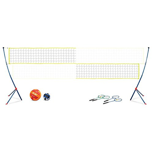 EastPoint Sports Easy Setup Portable Volleyball Badminton Net - East Stand Mitten