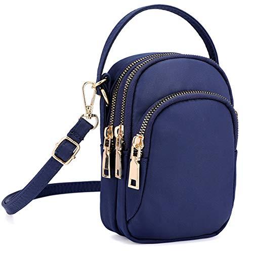 Multi-Pocket Lightweight Small Crossbody bag Cell Phone Purses Wallet for Women (S-Dark Blue) ()