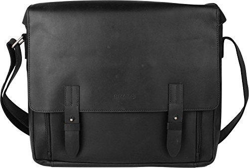 Prato by Franky Arizona Messengerbag 40cm Schwarz oFj1V