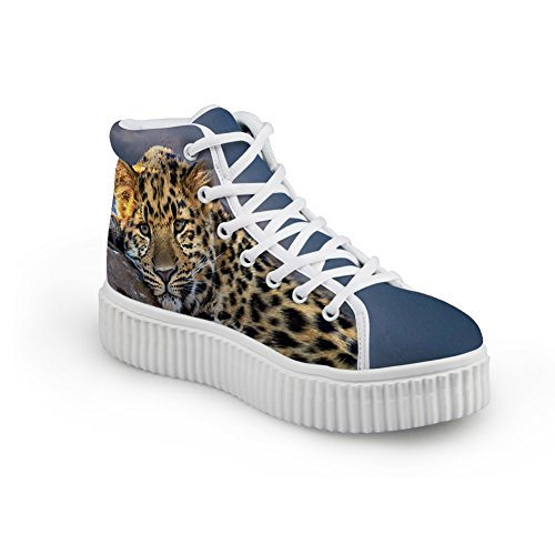 Abrazos Idea Cute Animal Printing Platform Zapatos Moda Zapatillas Leopard