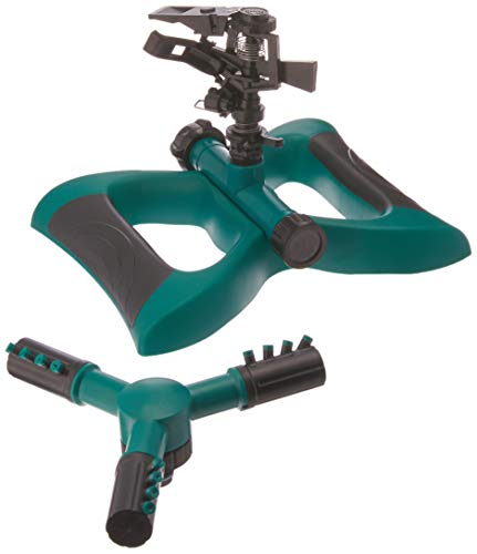 (Lawnfit Lawn Impact 360 Degree Rotating Sprinkler, Large, Green)