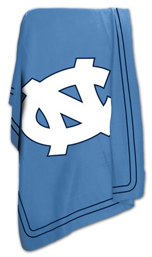 North Carolina Tar Heels UNC Fleece Throw Blanket (North Carolina Comforter)