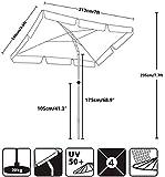 AMMSUN 7ft × 4.6ft Rectangular Patio Umbrella