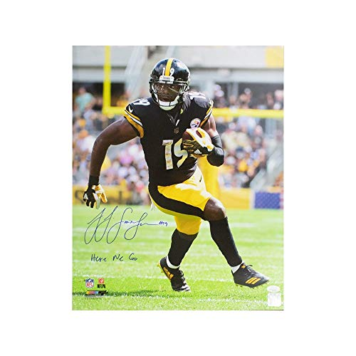 JuJu Smith-Schuster Here We Go Autographed Pittsburgh Steelers 16x20 Photo JSA
