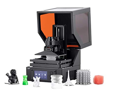 High Resolution - Monoprice MP Mini SLA LCD High Resolution Resin 3D Printer (118 x 65 x 110 mm) Build Area, Auto Leveling, Wi-Fi Web UI, 2K LCD Curing Screen