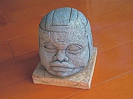 Ancient Olmec Head Reel Art