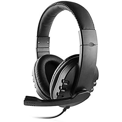 Mackur Wired Gaming Headset Deep Bass Game Earphone Professional Computer Gamer Headphone With Microphone for Computer  Color Black