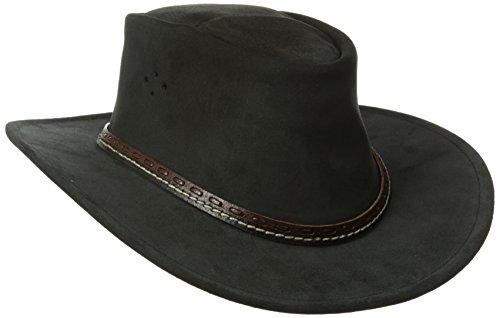 Kakadu Suede Hat - Kakadu Traders Australia Mainlander Hat, Black, Small