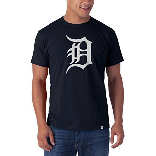 MLB Detroit Tigers Men's All Pro Flanker Tee, Fall Navy, XX-Large