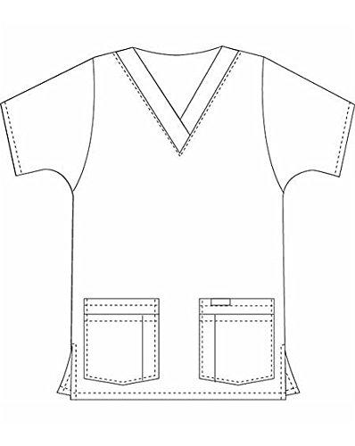 landau-womens-v-neck-tunic-classic-fit-finger-paint-print-scrub-top-x-small-print