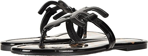 Sam Edelman Women's Carter Black Patent 7.5 W - Sandals Patent Leather Flat