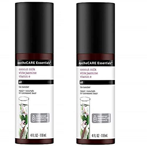 ApotheCARE Essentials The Mender Damaged Hair Repair Oil, Coconut Milk, White Jasmine, Vitamin E, 4 oz, 2-Pack ()