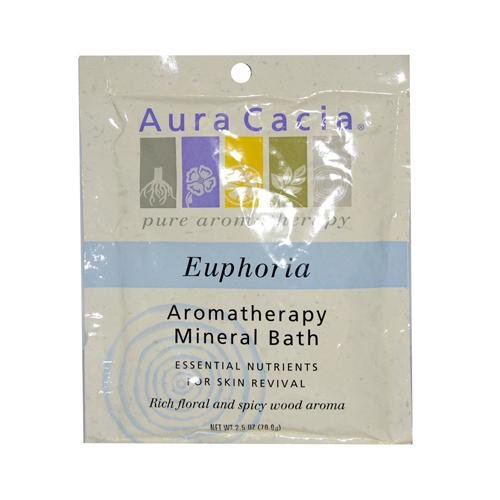 Euphoria Aromatherapy Mineral Bath (2 Packs of Aura Cacia Aromatherapy Mineral Bath Euphoria - 2.5 Oz - Case Of 6)