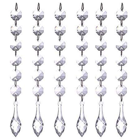 Nattel Curtain Home - 12pcs Set Crystal Bead Curtain Beads Rondelles Chain Pendant Wedding Decoration Hanging Home - Rome New Decor Kit Theater York With Living