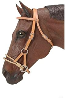 Amazon mustang nylon bitless bridle wreins black sports royal king rawhide double rope side pull fandeluxe Gallery