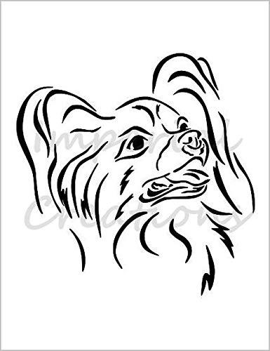 PAPILLON Dog Breed Face Toy Spaniel 8.5