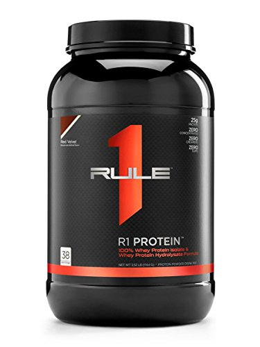 (R1 Protein Whey Isolate/Hydrolysate, Rule 1 Proteins (38 Servings, Red Velvet))