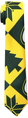 FOCO Green Bay Packers Patches Ugly Printed Tie - (Apparel Necktie)