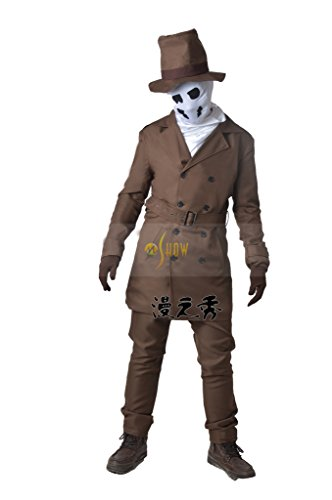 Rorschach Costume (Mtxc Men's Watchmen Cosplay Costume Rorschach Full Set Size X-Small Brown)