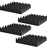 4 Pack- Acoustic Panels Studio Foam Convoluted 2.5'' X 12'' X 12'' Sound Tiles''Egg Crate''