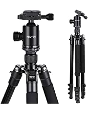 HEOYSN Fotostativ 164cm/64.57in, Tragbare mit 360° Kugelkopf aus hochwertigen Aluminiumlegierungen. Leichtgewichtiges Stativ. Kompatibel mit Canon/Nikon/Olympus/Pentax DSLR-/Bridge- und Allen Kameras