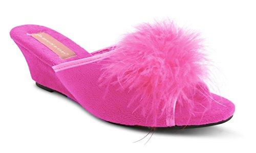 Dunlop - Zapatillas de estar por casa para mujer Rosa - fucsia