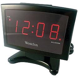 Westclox 70014 Plasma LED Alarm Clock, 0.9-Inch