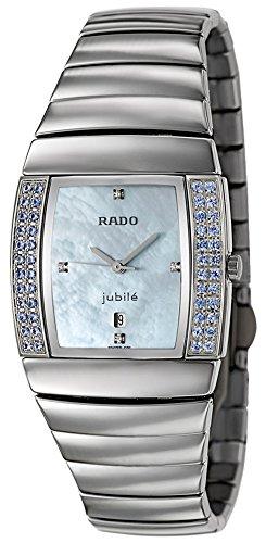 (Rado Sintra Jubile Ceramos & Blue Sapphire Womens Luxury Watch Blue MOP Dial)