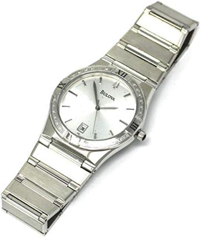 Bulova Men s 96E100 Diamond Case Calendar Watch