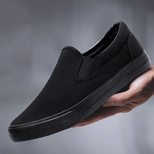 da uomo uomo da tela scarpe nero di nere da Scarpe scarpe casual scarpe WFL uomo pigre da scarpe di uomo completamente pedali da uomo stoffa nYBZPvqX