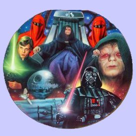 Star Wars Collectible Plates - Star Wars Heroes & Villains Emperor Palpatine Collectible Plate