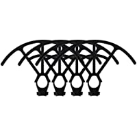 Phantom 4 Quick Clip Propeller Guards Only Prop Guards That Works with Obstacle Avoidance Sensors Carbon Fiber Protection Works with DJI Phantom 4 Drone Quadcopter VPS FREE (Black)