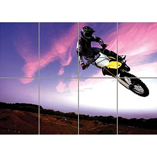 MOTOCROSS DIRT BIKE STUNT GIANT POSTER ART PRINT X3205
