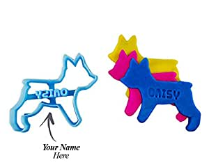 """Custom Yorkie Dog Cookie Cutter: Personalize with your Pet's Name for Dog Treats STANDARD 3"""""""