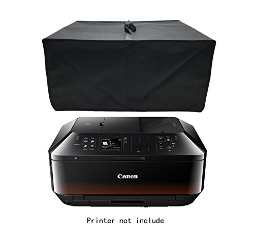 Printer Cover - Wanty Black Antistatic Water-proof Dust-proof Nylon Fabric Printer Cover Case Protector for Canon PIXMA MX922 / MX532 / MX 472 / MX 452 / HP Officejet 5740 / Pro 6830 / ENVY 5640 Wireless Printers