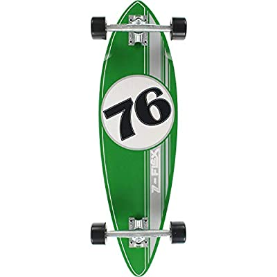 Z-Flex Cruiser Mini Pintail 76 Skateboard Complete Green/Silver : Sports & Outdoors