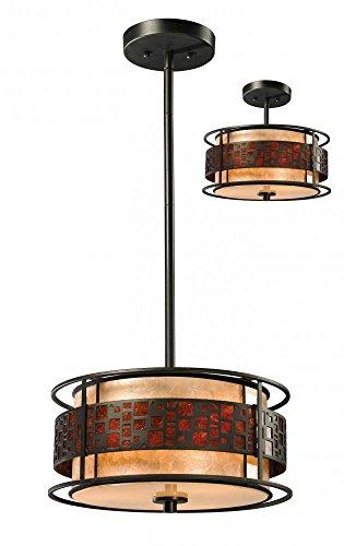 - Z-Lite Oak Park 3 Light Pendant in Java Bronze