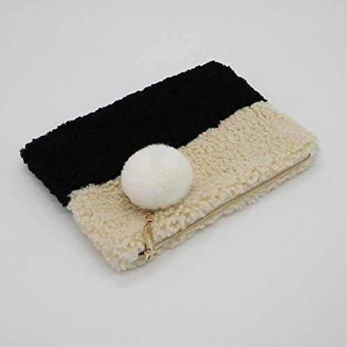 Pochette femme pour Noir Beige S Other UqapxwTq