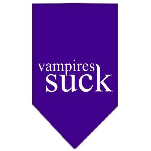 Mirage Pet Products Vampires Suck Screen Print Bandana,