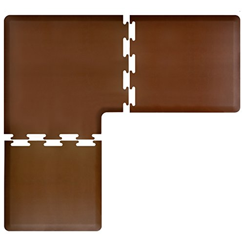 WellnessMats PuzzlePiece Collection L Series Brown Anti-Fatigue Mat, 6.5 x 6 Foot by WellnessMats
