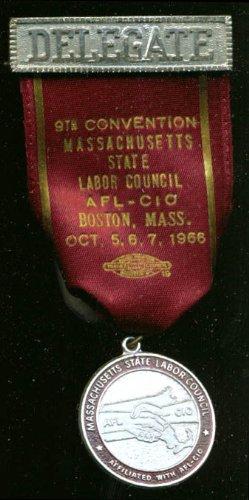 Massachusetts Labor Council Convention Delegate pin '66 ()