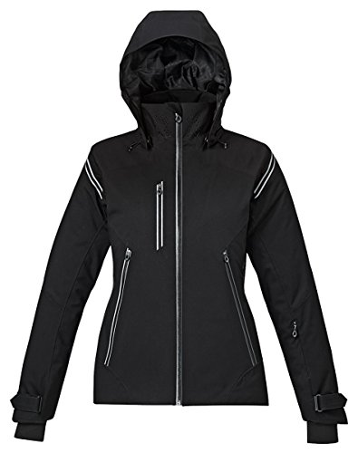 North End Ventilate Ladies Seam-Sealed Insulated Jacket, Black, Medium by Ash City - North End Sport Red