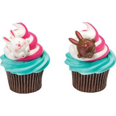 Easter Bunny Cupcake Rings - 24 pcs