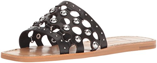 Dolce Vita Women's Celita Slide Sandal Black Leather