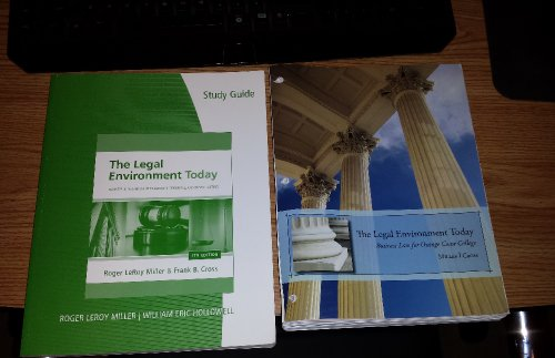 The Legal Environment Today Business Law for Orange Coast College (7th edition Mille/ Cross)