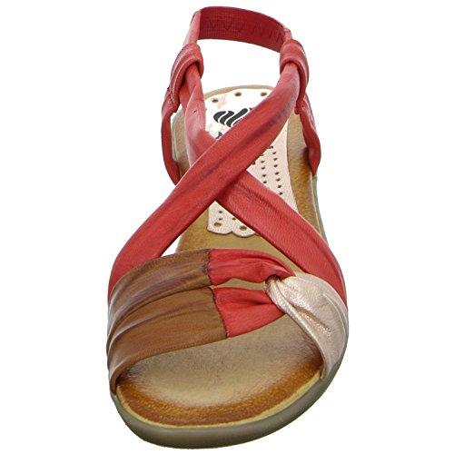 Marila 136/IN-25 Damen Sandalette bis 30mm Absatz Rot (Rot)