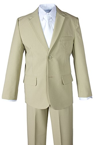 Spring Notion Big Boys' 2 Piece Suit Set 12 (Boys Tan Suits)