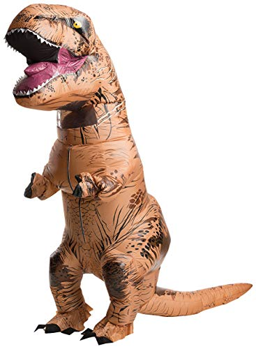 Cute Halloween Costumes For Groups Of Three (Rubie's Adult Official Jurassic World Inflatable Dinosaur Costume, T-Rex with Sound,)