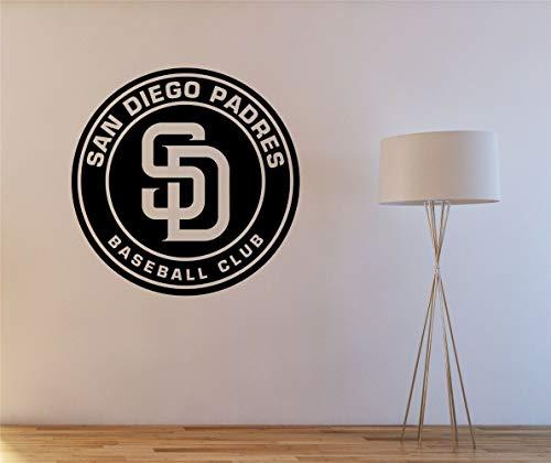 San Diego Padres Logo Sticker Decal Books Wall Truck Car Wall Vinyl - Mirrors Stores Diego San Bathroom